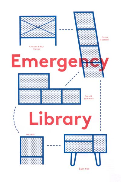 CalArts poster: Emergency Library by Mark Owens