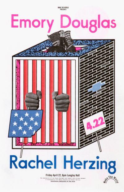 CalArts poster: Emory Douglas Rachel Herzing by Scott Barry