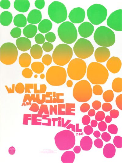CalArts poster: World Music And Dance Festival 1 by Tasheka Arcenaux