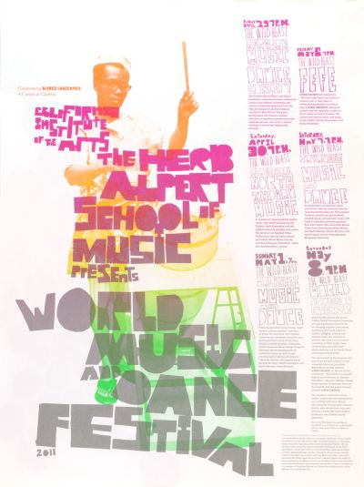 CalArts poster: World Music And Dance Festival 2 by Tasheka Arcenaux