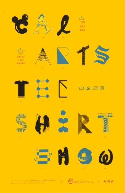CalArts poster: CalArts T-Shirt Show by Christopher Burnett