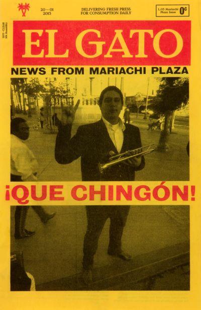 CalArts poster: El Gato Mariachi Plaza Issue 1 by Stefano Giustiniani