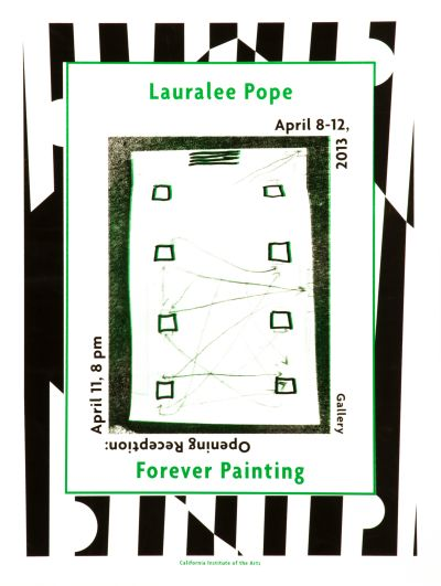 CalArts poster: Lauralee Pope Forever Painting by
