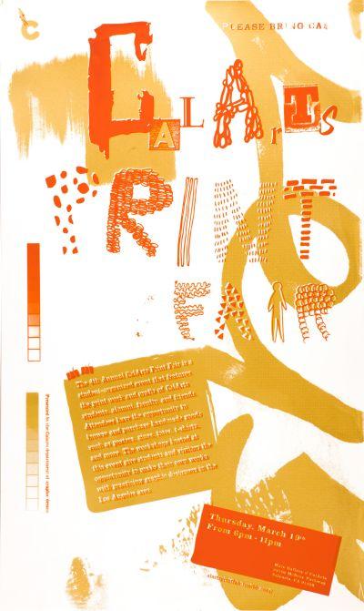 CalArts poster: CalArts Print Fair 2 by