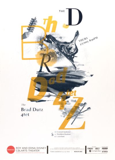 CalArts poster: The Brad Dutz 4tet by