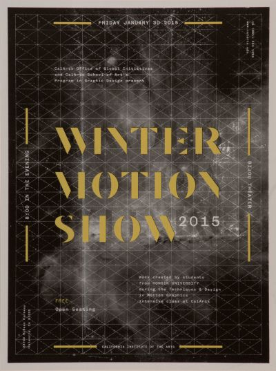 CalArts poster: Winter Motion Show by