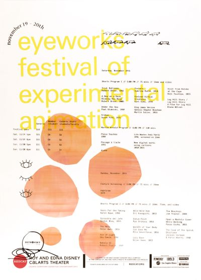 CalArts poster: Eyeworks Festival Of Experimental Animation by Monique Wilmoth
