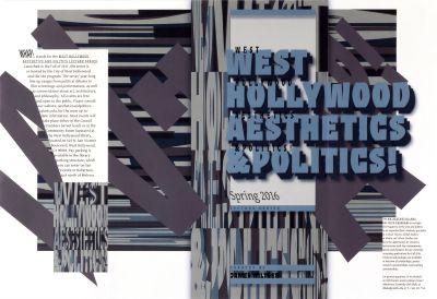 CalArts poster: West Hollywood Aesthetics & Politics Spring 2016 by