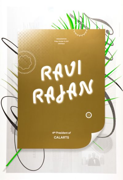 CalArts poster: Ravi Rajan Inauguration by Anther Kiley Colin Frazer