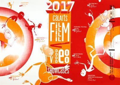 CalArts poster: CalArts Film /Video Showcases by Andrea Yasko Es Youn