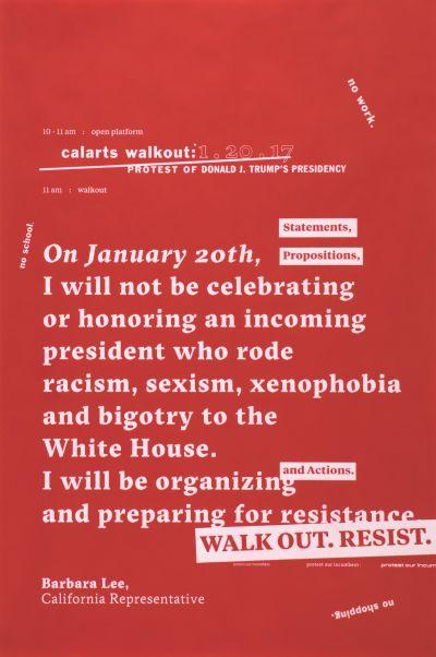 CalArts poster: CalArts Walkout by