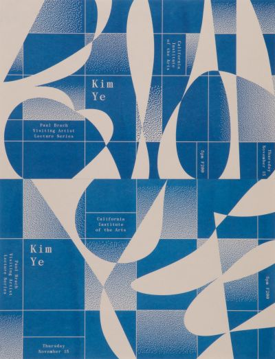 CalArts poster: Kim Ye Lecture by Ella Gold