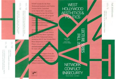 CalArts poster: West Hollywood Aesthetics & Politics Fall 2018 by Christina Huang