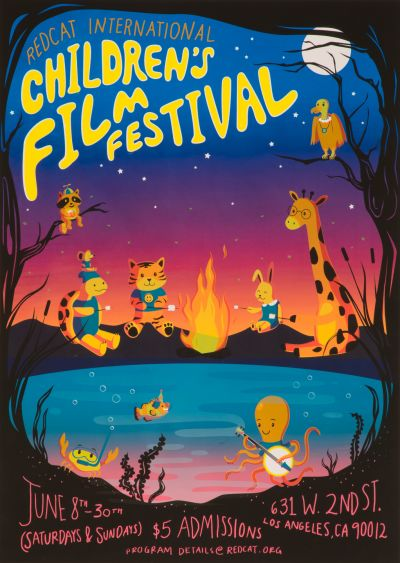 CalArts poster: Childrens Film Festival by Bryan Gelderbloom Jessica Peng