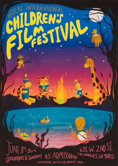 CalArts poster: Childrens Film Festival by Bryan Gelderbloom Jessica Peng