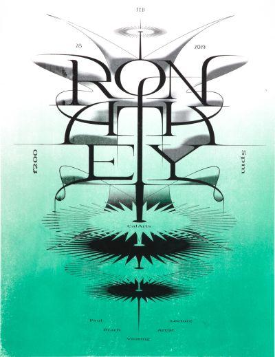 CalArts poster: Ron Athey by Vivian Naranjo