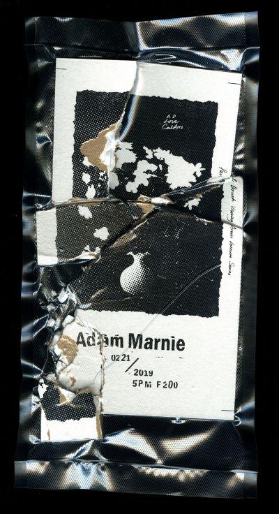 CalArts poster: Adam Marnie by Benjamin Macias Huicheng Wu