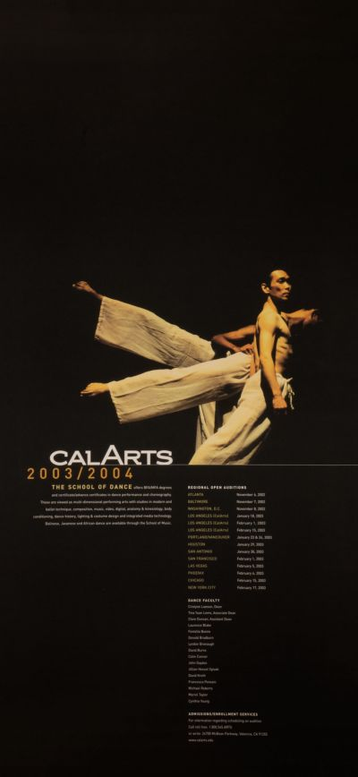 CalArts poster: CalArts School of Dance by