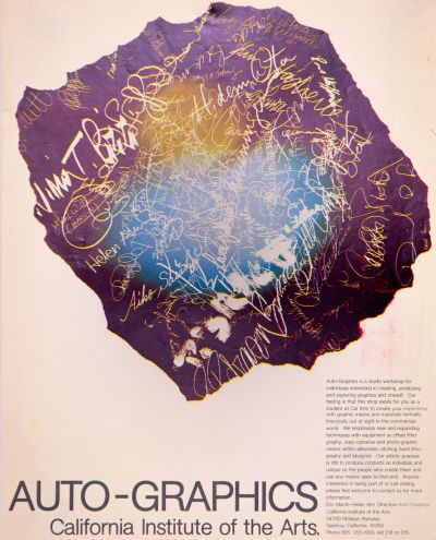 CalArts poster: Auto-Graphics by