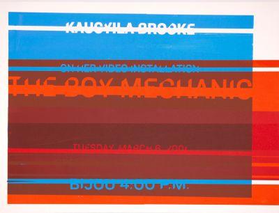CalArts poster: Kaucyila Brooke: The Boy Mechanic by Jessica Fleischmann