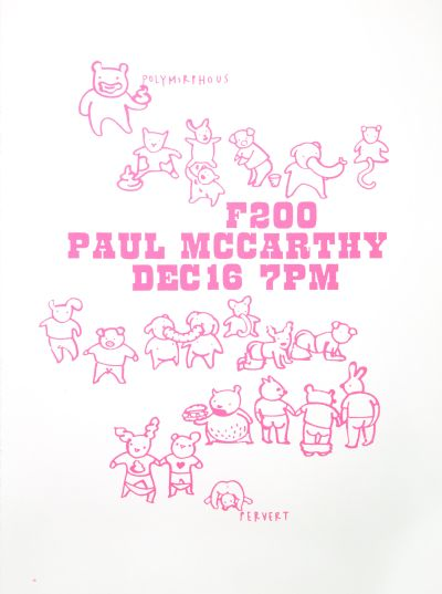 CalArts poster: Paul McCarthy by Juliette Bellocq