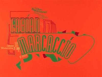 CalArts poster: Rabian Marcaccio by Anita Lozinska