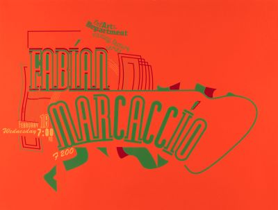 CalArts poster: Fabian Marcaccio by Anita Lozinska