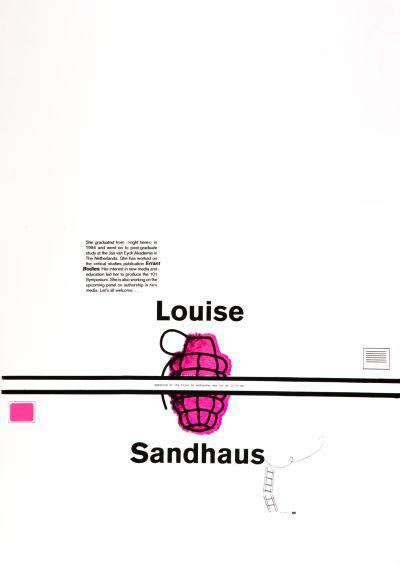 CalArts poster: Louise Sandhaus by