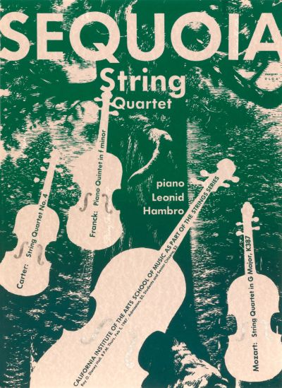 CalArts poster: Sequoia String Quartet by