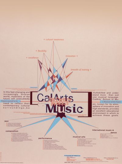 CalArts poster: CalArts Music 21st Century Musician by Susan LaPorte