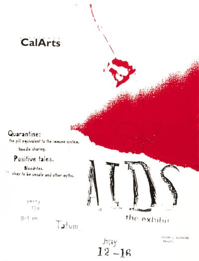 CalArts poster: Aids The Exhibition by