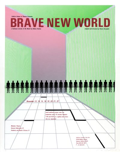 CalArts poster: Brave New World by Peter Levine
