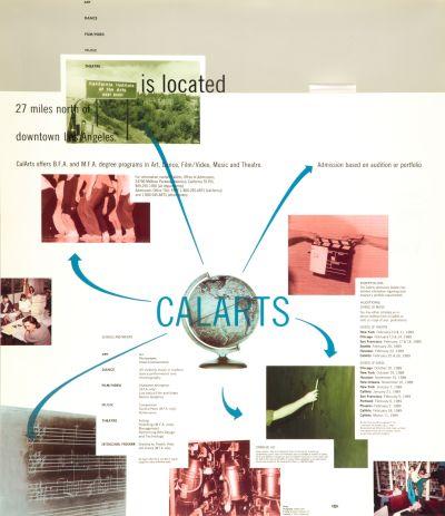 CalArts poster: Calarts Bulletin poster by Ed Fella Jeff Keedy Lorraine Wild