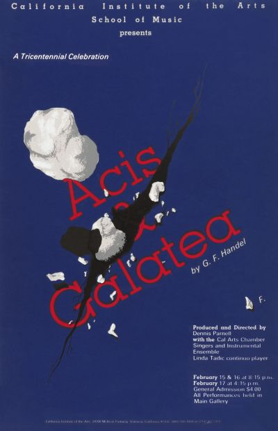 CalArts poster: Acis & Galatea by