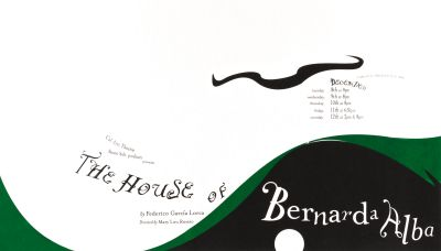 CalArts poster: The House of Bernarda Alba by