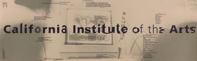 CalArts poster: Graphic Design Program (front) by Garland Kirkpatrick