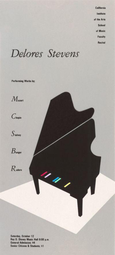 CalArts poster: Delores Stevens Faculty Recital by Marlitt Dellabough