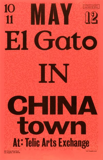 CalArts poster: El Gato In China Town 1 by Stefano Giustiniani