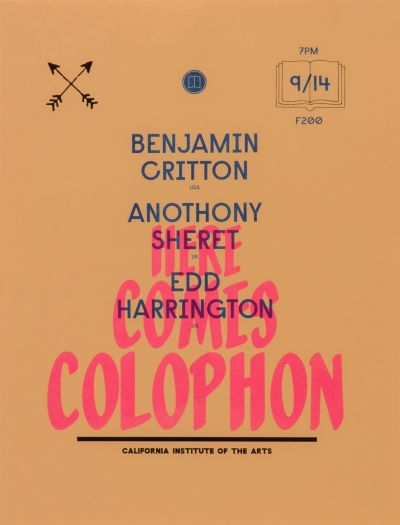 CalArts poster: Here Comes Colophon by