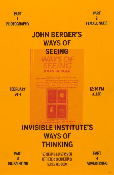 CalArts poster: John Berger's Ways Of Seeing by Izaak Berenson