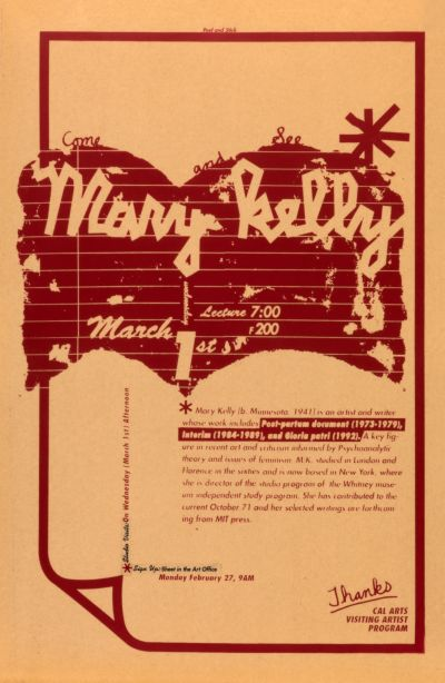 CalArts poster: Mary Kelly by Geoff McFetridge