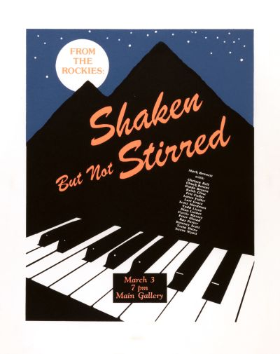 CalArts poster: Shaken But Not Stirred by