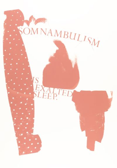 CalArts poster: Somnambulism Is Exalted Sleep by Gail Swanlund