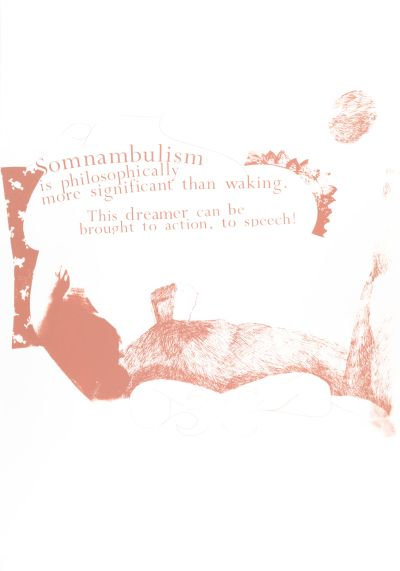 CalArts poster: Somnambulism Is Philosophically More Significant Than Waking by Gail Swanlund
