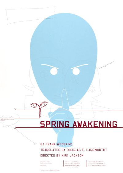 CalArts poster: Spring Awakening By Frank Wedekind by
