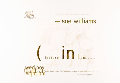 CalArts poster: Sue Williams by