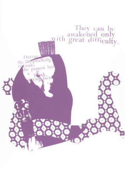 CalArts poster: They Can Be Awakened Only With Great Difficulty by Gail Swanlund