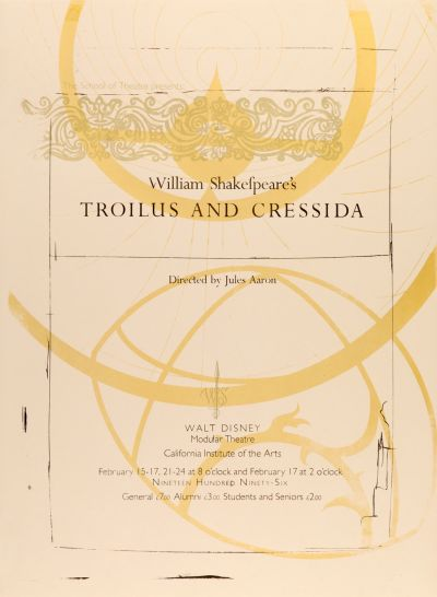 CalArts poster: Troilus and Cressida by Shoshannah Day Strauss