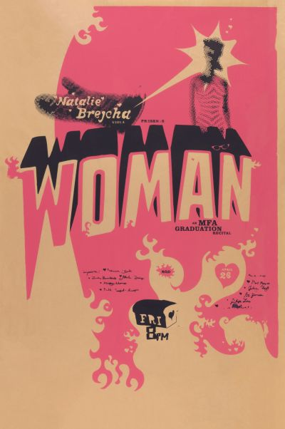 CalArts poster: Natalie Brejcha: Woman by