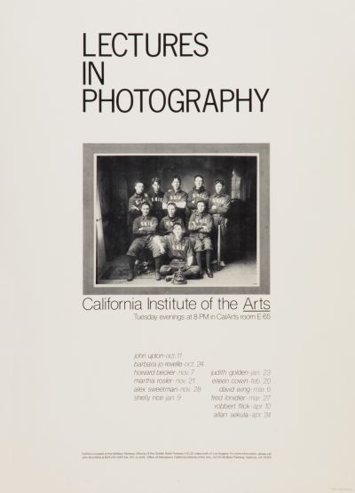 CalArts poster: Lectures In Photography by Michael Giammomco
